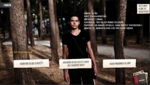 Screen shot fra den prisvindende interaktive dokumentar Deadline Athen skabt af Thomas Aue Sobol, Lasse Telling, Steven Achiam, Asta Wellejus, PortaPlay m.fl.